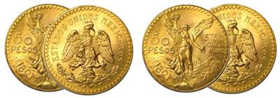Monnaie 50 Pesos Or