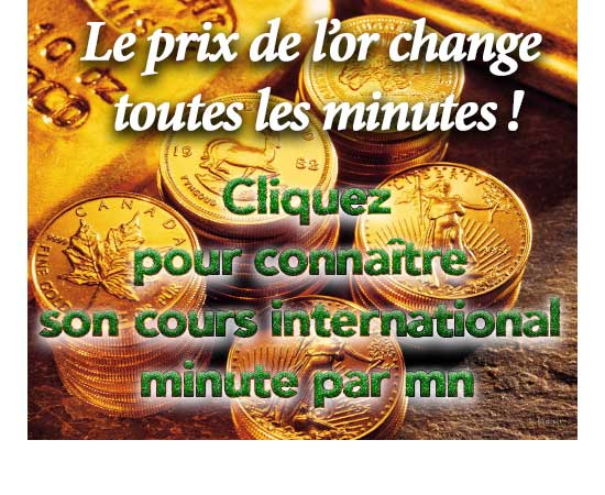 Prix Et Cotation Internationale De L Or